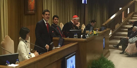 Dr. Moore speaking at the Vatican.