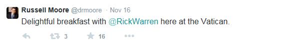 dr moore twitter with rick warren