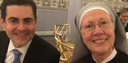"Dr. Moore posted this picture saying that he's, ""Praying for the Little Sisters of the Poor."""