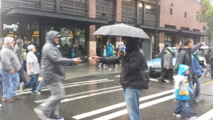 Robert Gray getting tracts into hundreds of hands at the Seahawks game!