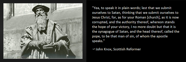 Pope -John Knox, Scottish Reformer